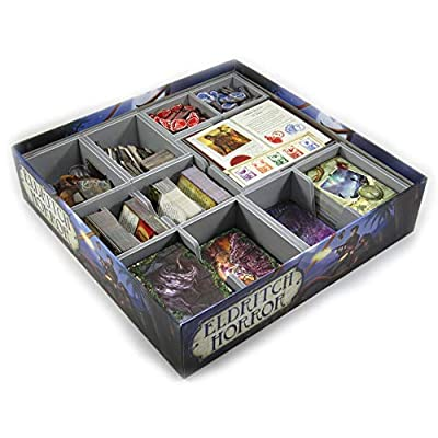 Folded Space Eldritch Horror and Single Small Box Expansion Board Game Box Inserts Organizer: Toys & Games
