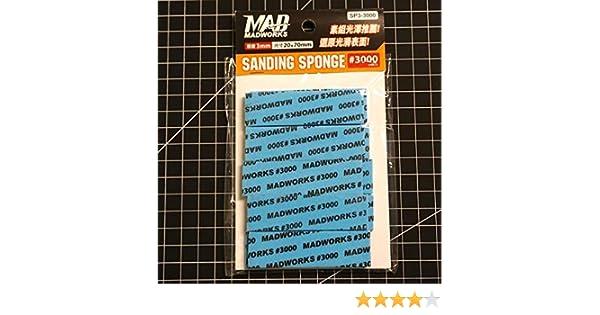 Madworks SP3-3000 3mm Model Sanding Sponge #3000 3000 Grit 2cm x 7cm 10pc