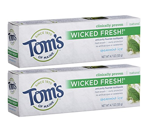 Tom's of Maine Ice Wicked Fresh Paste, Spearmint, 4.7 Ounce, Pack of 2