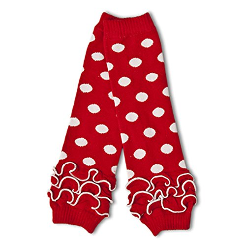 [Polka Dot Leg Warmers (Red with White Polka Dots)] (Rouge Dance Costumes)