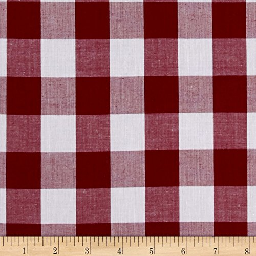 (Richland Textiles Richcheck 60in Gingham Check 1in Berry Fabric by The Yard,)