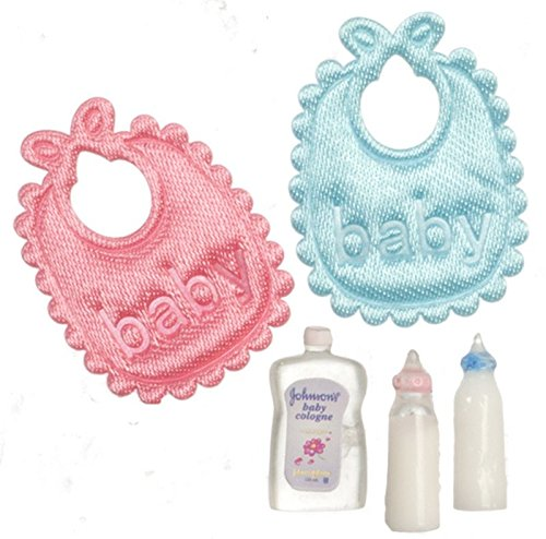 Dollhouse Miniature Set of Baby Accessories by Miniatures World (Baby Miniature)