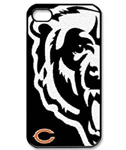 iPhone 4/4S Hard back cover Chicago Bears background by hiphonecases