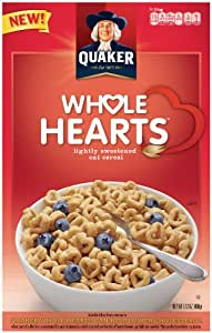 Quaker Whole Hearts Cereal, 17.2-Ounce (Pack of 5)