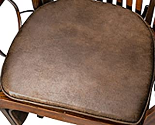 product image for Rustic Fabric Rocking Chair/Glider Seat Cushion - Brown Faux Leather - Amish Made in USA