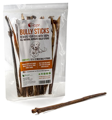 ropripet free range bully sticks for dogs healthy dog treats for your dog low odor bully. Black Bedroom Furniture Sets. Home Design Ideas