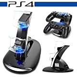 Loovbee PS4 Charging Station, PS4/PS4 Slim/Ps4 Pro Dual USB Charging Charger Docking Station Stand for Playstation 4 PS4/Pro/Slim Controller