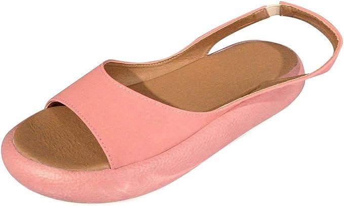Qingsiy Sandalias Mujer Verano 2019 Zapatos Planas Mujeres ...