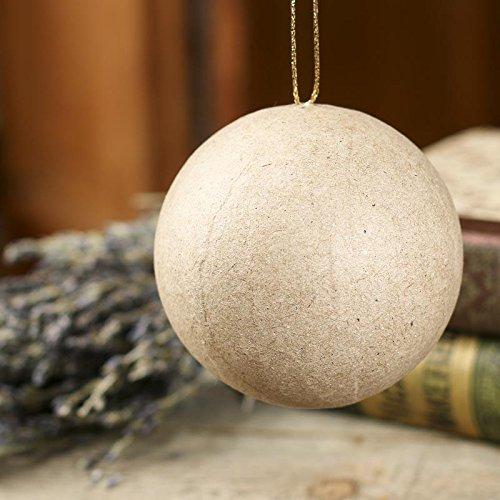 - Factory Direct Craft Paper Mache Ball Ornament | 12 Pieces