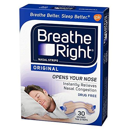 Breathe Right Nasal Strips Original Tan Small/Medium 30 ea