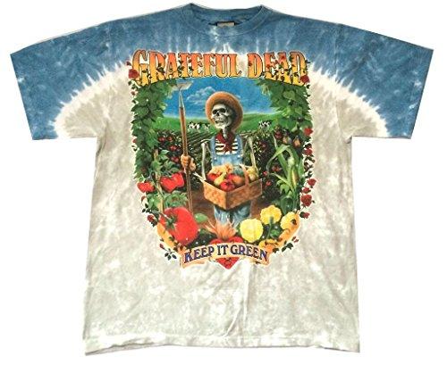 Keep Green (Grateful Dead Keep It Green Farmer Tie Dye T Shirt Liquid Blue (XL))