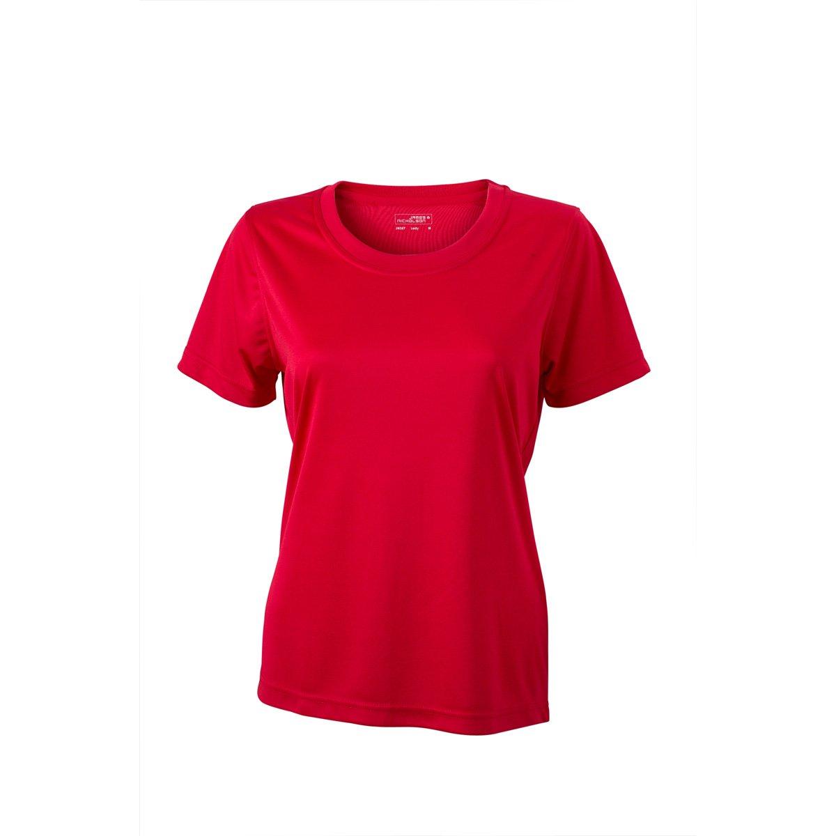 /poli/éster/ /Mujer /t/écnica/ /jn357/ /Camiseta de Manga Corta Transpirable/ James /& Nicholson/ /Secado r/ápido/