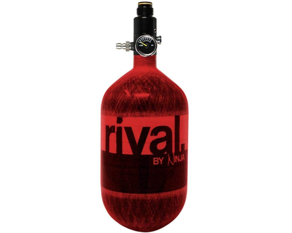 Ninja Rival Paintball Compressed HPA Air Tank (Red) by Ninja Paintball