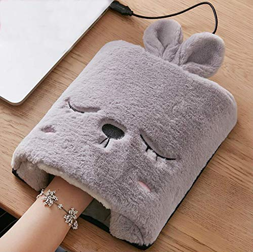 - Gelaiken Cartoon Cat USB Heated Mouse Pad Warm Winter Mouse Pad Plush Thickening Mouse Mat for Office (Grey)