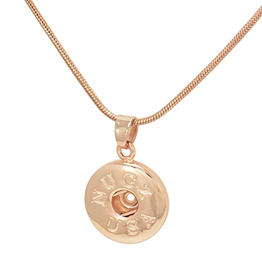 Amazon rose gold simple pendant necklace interchangeable snap rose gold simple pendant necklace interchangeable snap jewelry from nugz jewelry aloadofball Images