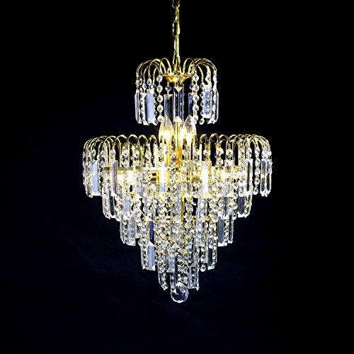 Lightinthebox European-Style Luxury 6 Lights Chandelier In Crown Shape, Crystal Home Ceiling Light Fixture, Pendant Light Chandeliers Lighting for Dining Room, Bedroom, Living Room by LightInTheBox (Image #4)