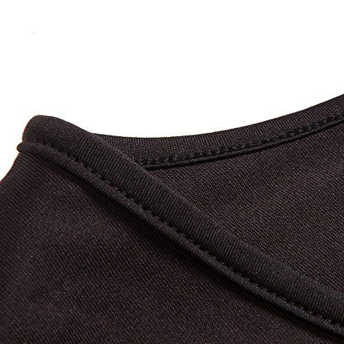 Style Rétro Des Femmes Bewish Profond Col V À Manches Courtes De Haute Robe Swing Taille Taille Plus Partie Casual Noire De Demoiselle D'honneur Banquet