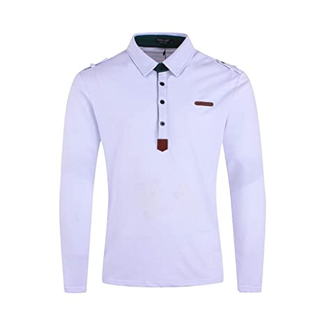 NISHIPANGZI Nuevo Polo para Hombre Hombres Camiseta de Manga Larga ...