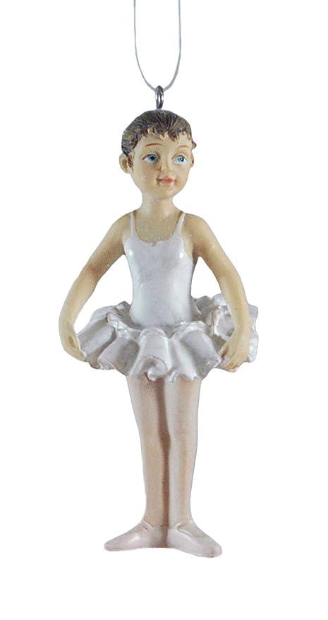 ballerina dancer brunette resin hanging christmas ornament