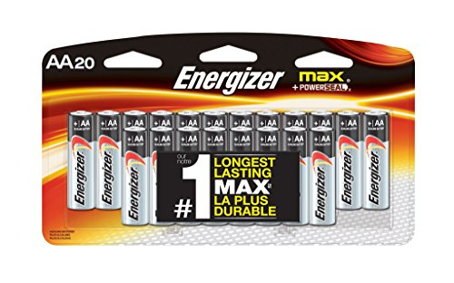 12 Pack Aa Alkaline Batteries - Energizer MAX AA Batteries, Designed to Prevent Damaging Leaks (20-Count)