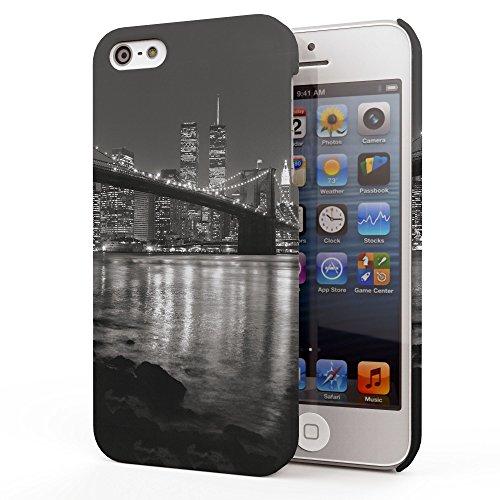 Koveru Back Cover Case for Apple iPhone 5S - The NewYork Bridge in Night