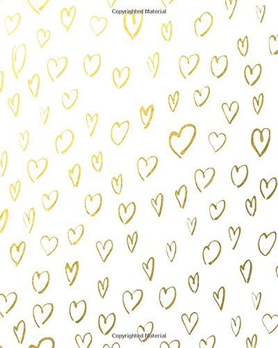 Gold Foil Scribbled Hearts Pattern Notebook: 170 Dot Grid Pages (Scribbled Hearts)