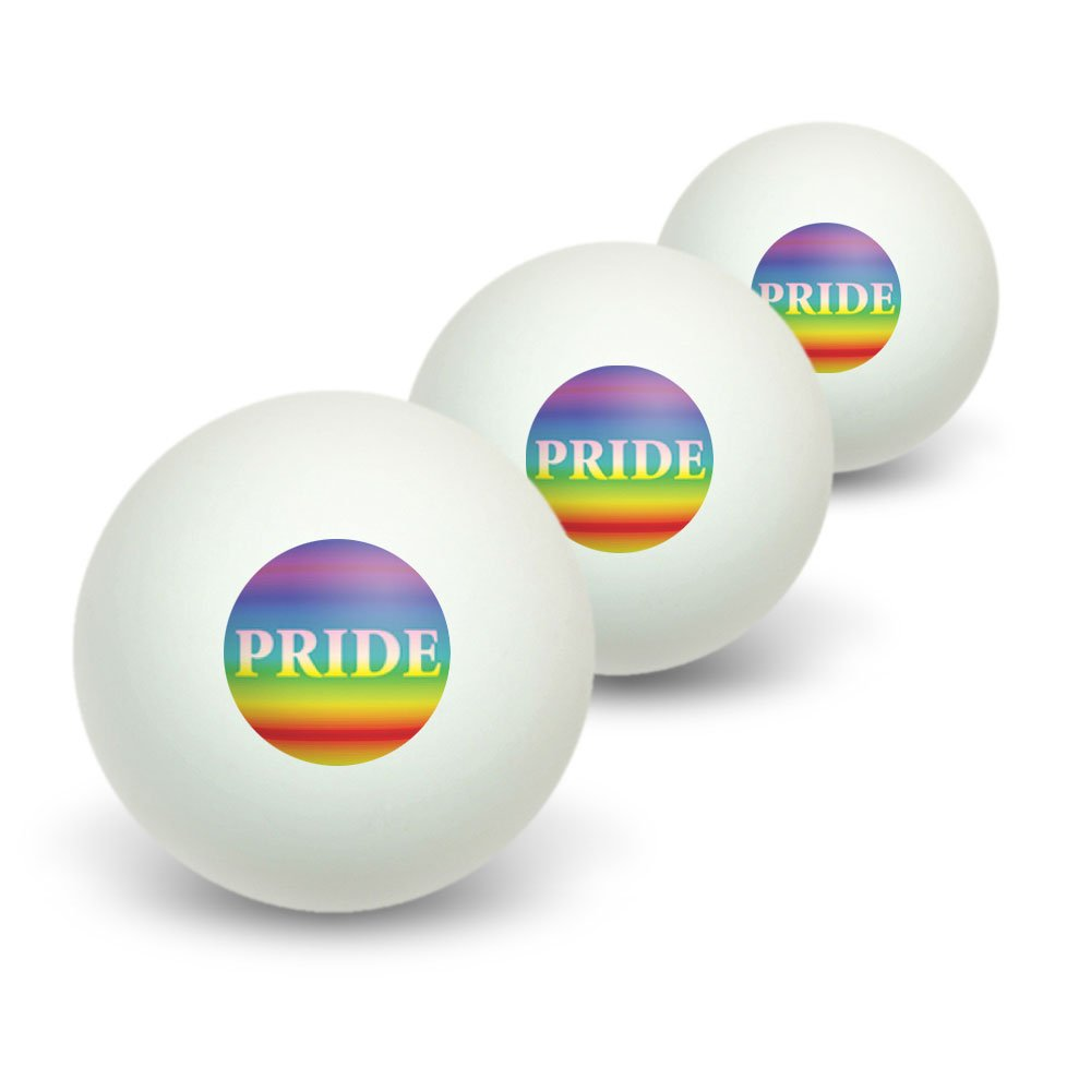 Amazon.com : Rainbow Spectrum Pride - Gay Lesbian Novelty Table Tennis Ping  Pong Ball 3 Pack : Sports & Outdoors