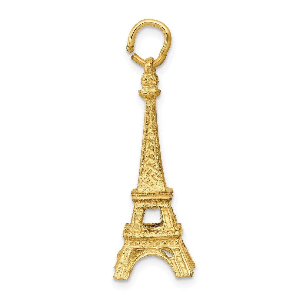 14K Yellow Gold Eiffel Tower Charm