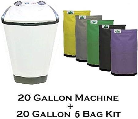 Amazon.com: 20 Galón burbuja Magic Lavadora + gro1 Hielo ...