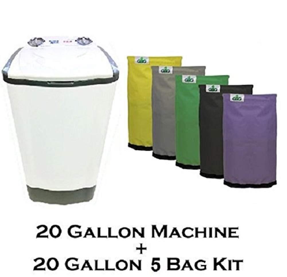 20 Gallon Bubble Magic Washing Machine + GROW1 Ice Hash Extraction 5 Bags Kit by Bubble Magic