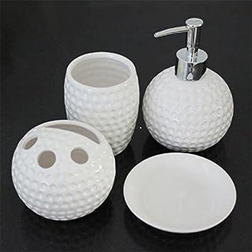 Set Von 4 Hammer Effekt Keramik Badezimmer Seifenschale Lotion