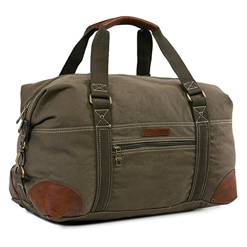 Perry Ellis Canvas Weekender Duffel