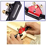 Anndason 2 Pcs Adjustable SpokeShave with Flat Base and Metal Blade Wood Working Wood Craft Hand Tool