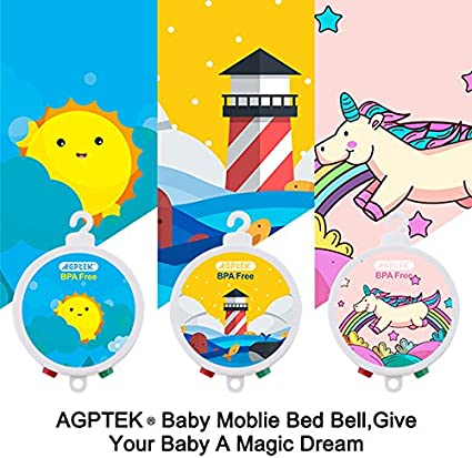 FITNATE 34.6 Inch Baby Crib Mobile Bed Bell Holder Music Box Holder Arm Bracket Baby Bed Stent Set with Mobile Bell