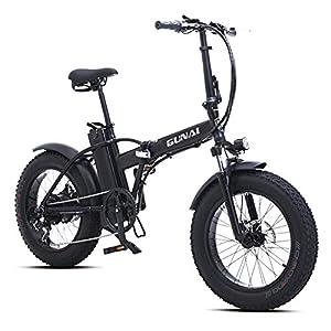 51KcQ fukTL. SS300 GUNAI Pieghevole Bici Elettrica,20 Pollice Motore 500W Batteria al Litio 48V15AH,Freno a Doppio Disco Bicicletta a…