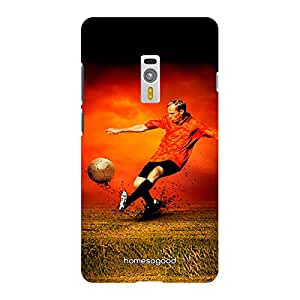 HomeSoGood Playing Football Multicolor 3D Mobile Case For OnePlus 2 (Back Cover)