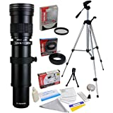Opteka 420-1600mm Telephoto Lens with Filter and Tripod for Panasonic Lumix DMC G9, GH5, GX850, G85, GX8, G7, GM5, GH4, GX7, GH3, Olympus PEN E-PL7, P5, PL5, PM2, PL1, PL2 Micro Four Thirds Cameras