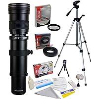 Opteka 420-1600mm f/8.3 HD Telephoto Zoom Lens with UV Filter and 54 Tripod for Canon EOS 80D, 77D, 70D, 60D, 60Da, 7D, 6D, 5D, 5Ds, 1Ds, T7i, T7s, T7, T6s, T6i, T6, T5i, T5, SL2 Digital SLR Cameras