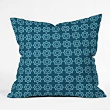 DENY Designs Khristian A Howell Moroccan Mirage Blue Throw Pillow, 20 x 20