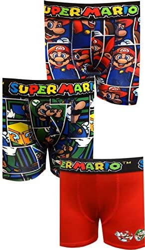 Boys' Nintendo Super Mario Bros 3 Pack Boxer Briefs