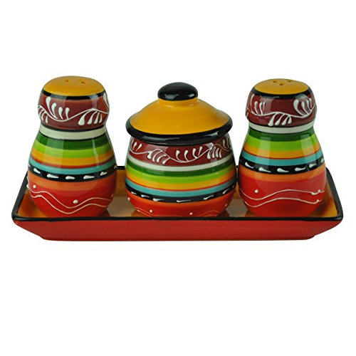 Design Imports La Cocina Fiesta Salt & Pepper Shaker Set (Fiesta Salt)