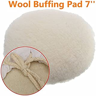Letbo New 7 Inch Polisher Buffer Soft Wool Bonnet Pad with Loop for Polishing Buffing