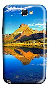Samsung Note 2 Case Mountain Lake 3D Custom Samsung Note 2 Case Cover WANGJING JINDA