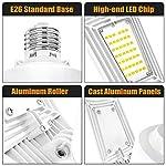 LED Garage Lights 125W Ceiling Lights E26 Deformable Three-Leaf Garage Light 14,000lm Tribright LED Adjustable Light… 13