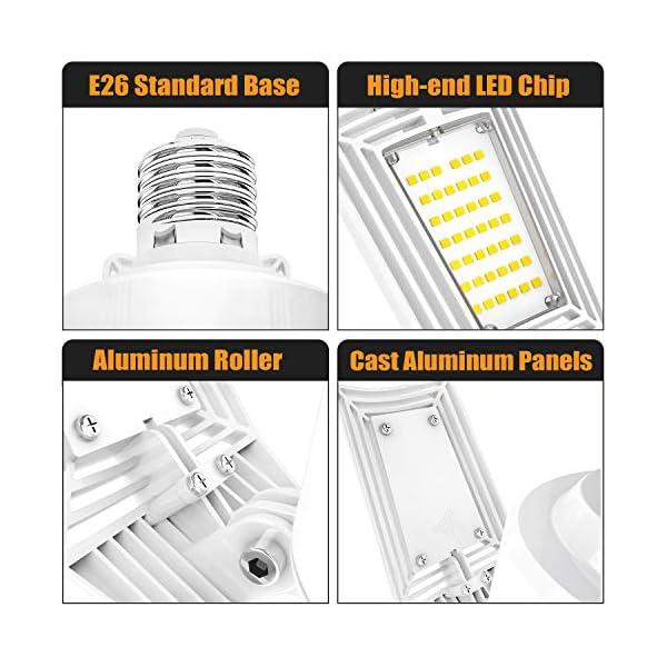 LED Garage Lights 125W Ceiling Lights E26 Deformable Three-Leaf Garage Light 14,000lm Tribright LED Adjustable Light… 6