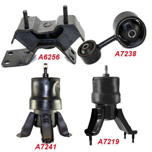 K137-04 : Fits 1997-2001 TOYOTA Camry 2.2L ENGINE MOTOR & TRANS MOUNT SET for AUTO 4 PCS : 1997 1998 1999 2000 2001 - A7241 A7219 A7238 A6256 - 1999 Camry Engine Motor