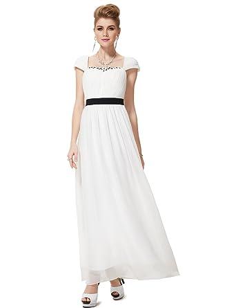 Ever-Pretty Damen Empire Kleid Weiß Weiß 44