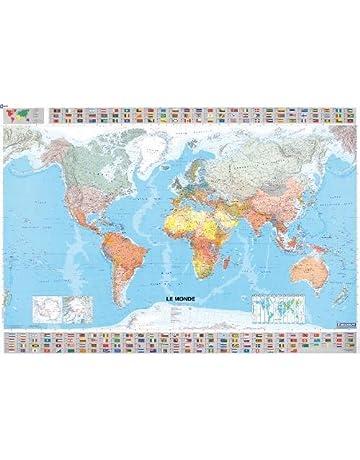 Crete Carte Geographique Monde.Amazon Fr Cartes Et Plans