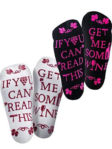 Gejoy 2 Pairs Wine Socks