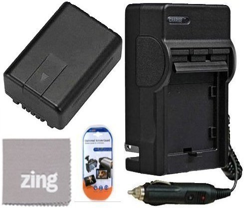 Panasonic HDC-SD80 HDC-SD90 HDC-HS60 HDC-HS80 Camcorder Battery & Battery Charger Kit Includes VW-VBK180 Battery + AC/DC Battery Charger + LCD Screen Protectors + Micro Fiber Cleaning Cloth